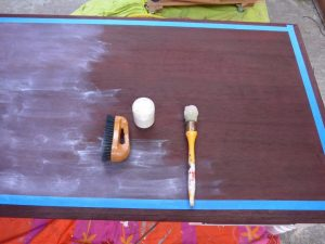 Céruse sur meuble teinté, les Ateliers d'Anis, Réunion